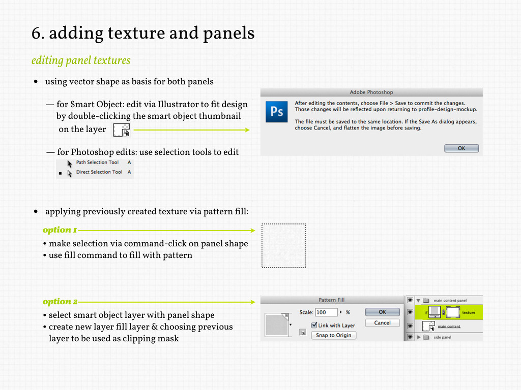 6. adding texture and panels editing panel text...