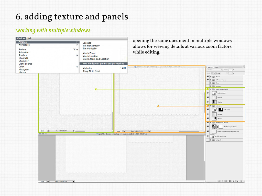 6. adding texture and panels working with multi...
