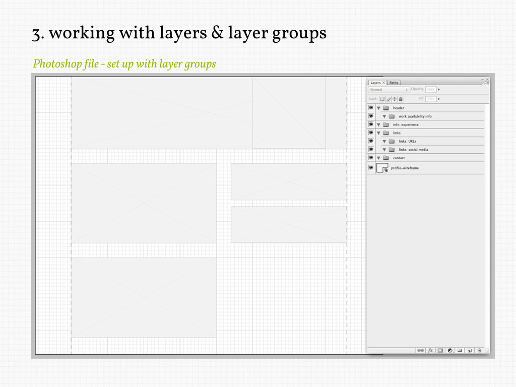3. working with layers & layer groups Photoshop...