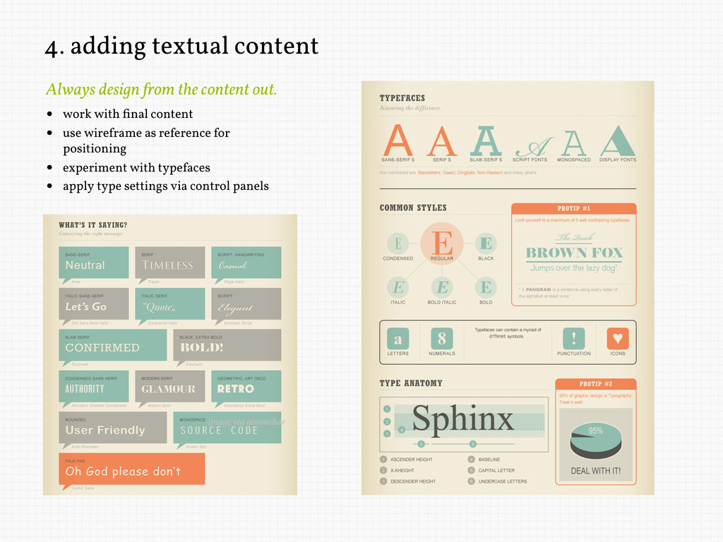 4. adding textual content Always design from th...