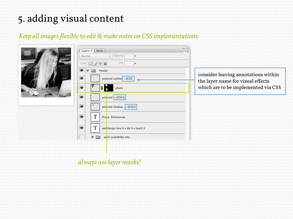 5. adding visual content Keep all images !lexib...