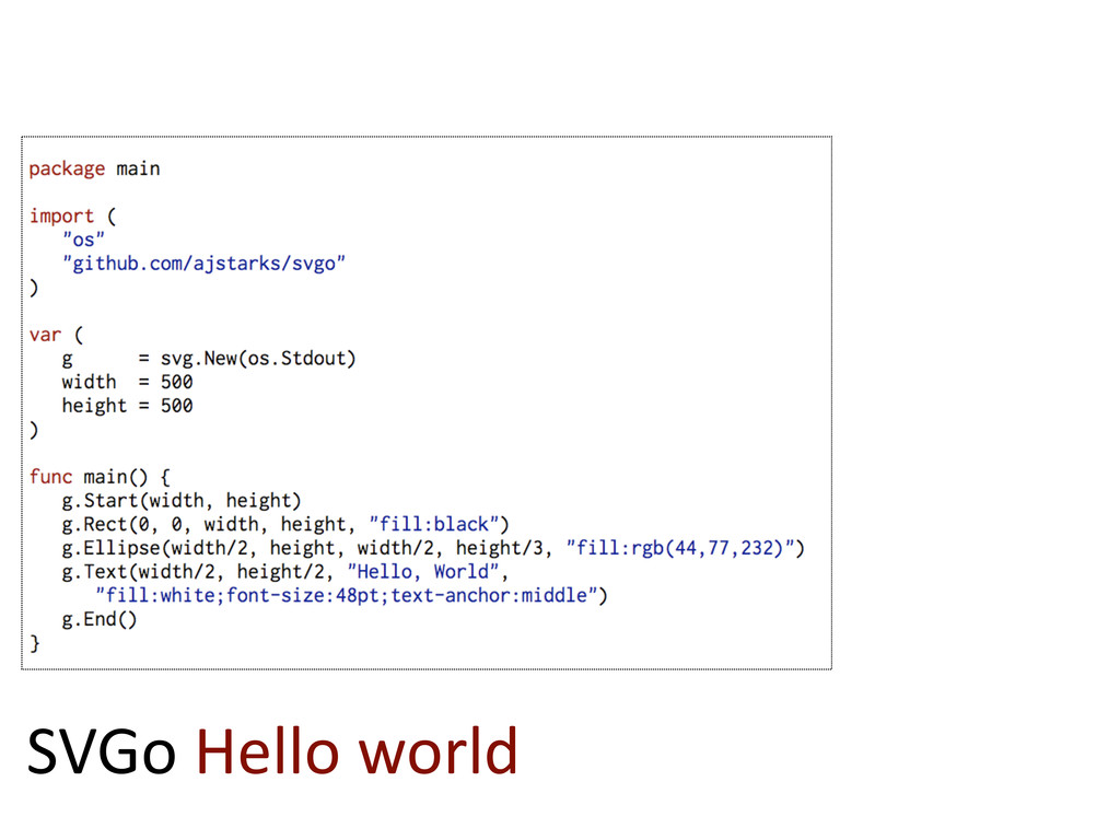 SVGo  Hello  world