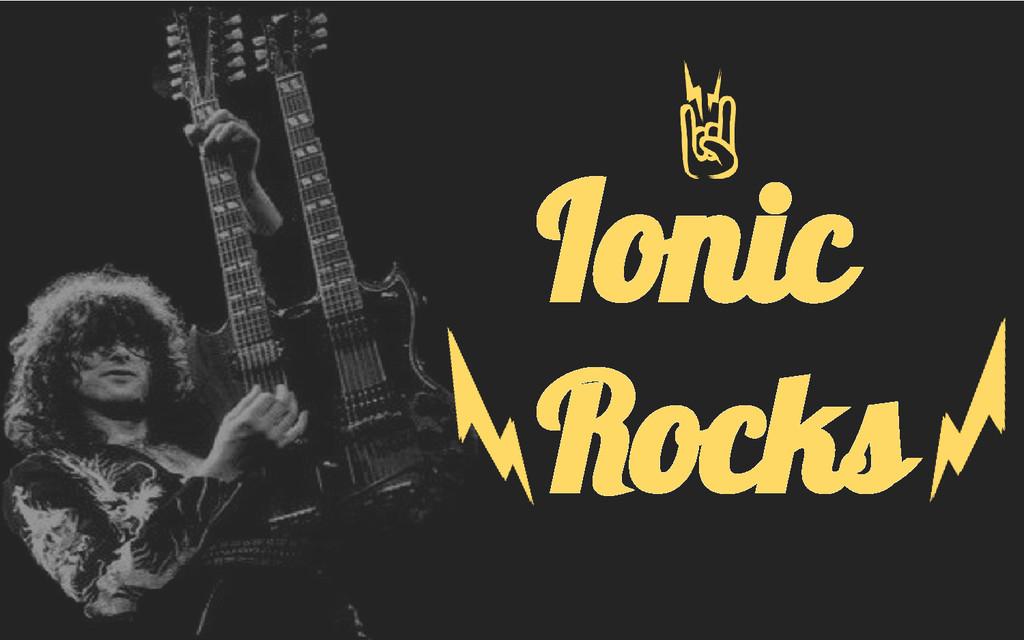 Ionic Rocks