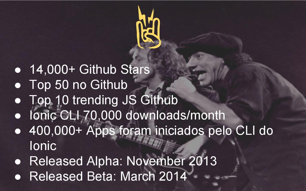● 14,000+ Github Stars ● Top 50 no Github ● Top...