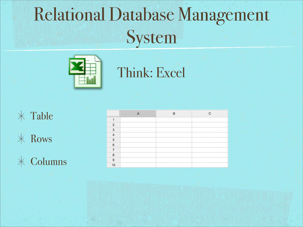 Relational Database Management System Table Row...