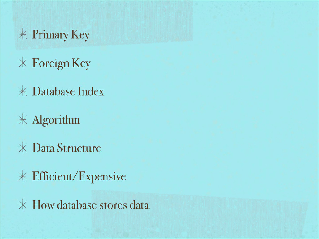 Primary Key Foreign Key Database Index Algorith...