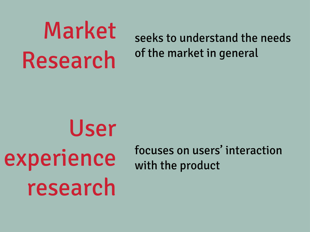 Market Research seeks to understand the needs o...