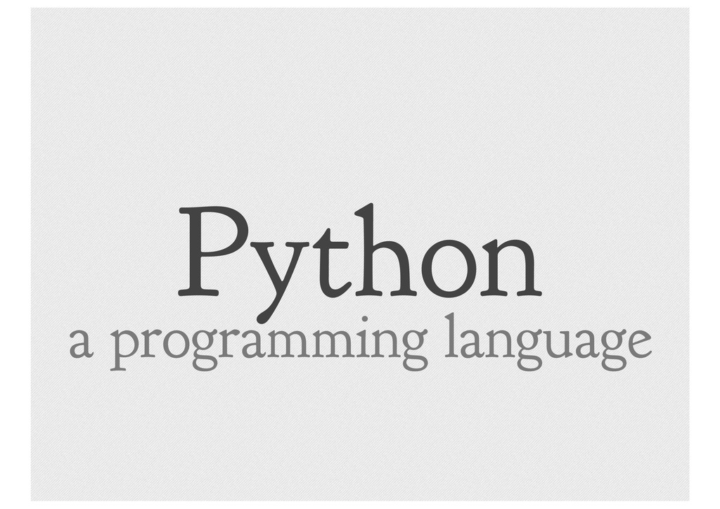 Python a programming language