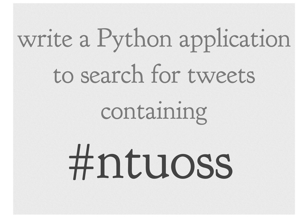 write a Python application to search for tweets...