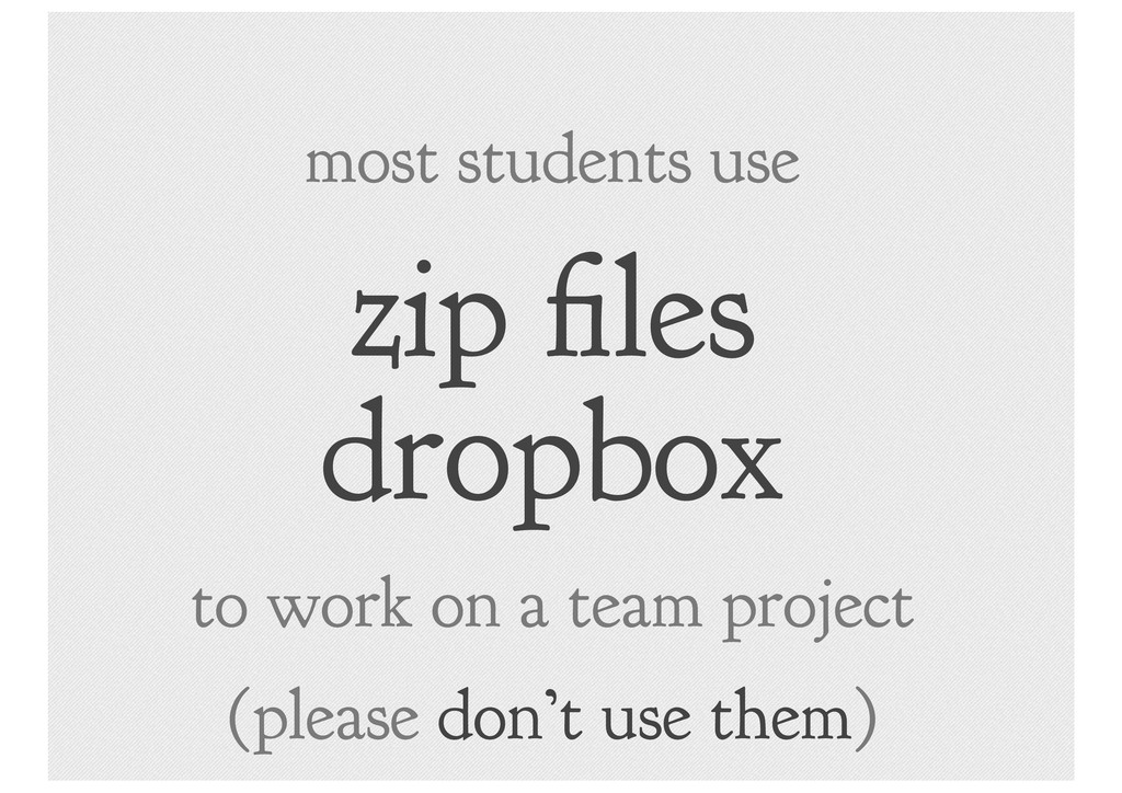 zip les dropbox most students use to work on a ...