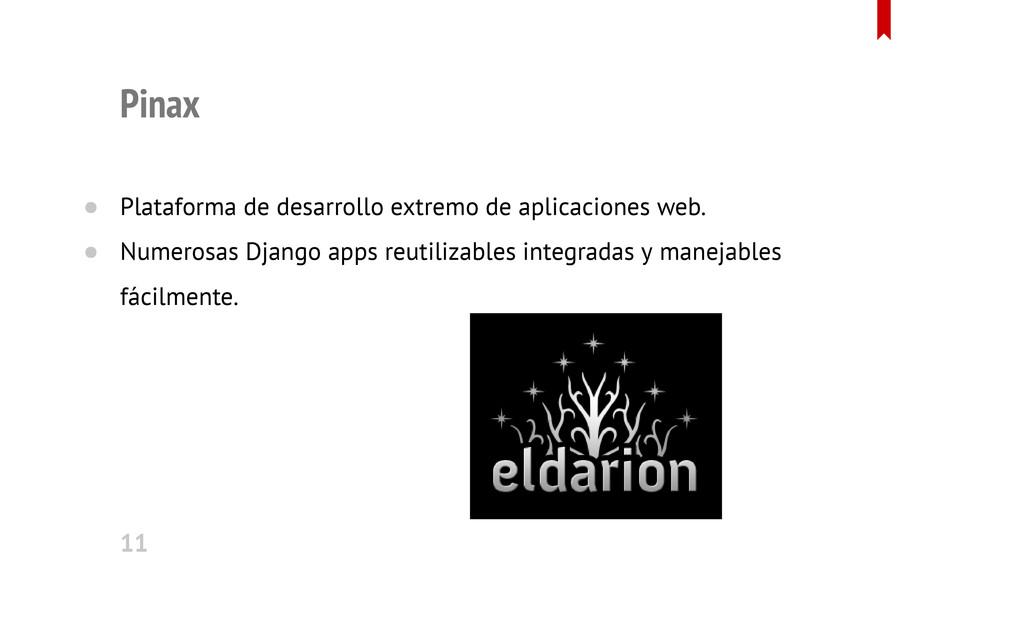 Pinax Plataforma de desarrollo extremo de aplic...