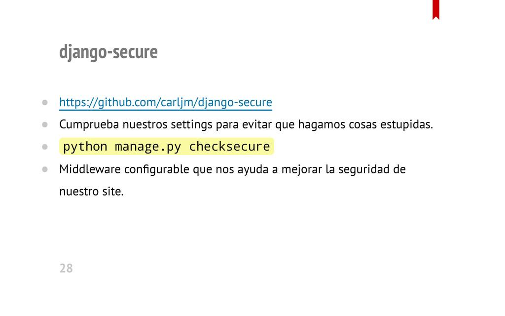 django-secure https://github.com/carljm/django-...