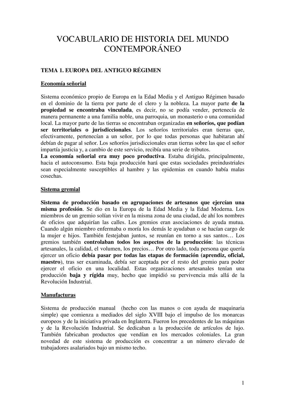 1 VOCABULARIO DE HISTORIA DEL MUNDO CONTEMPORÁN...