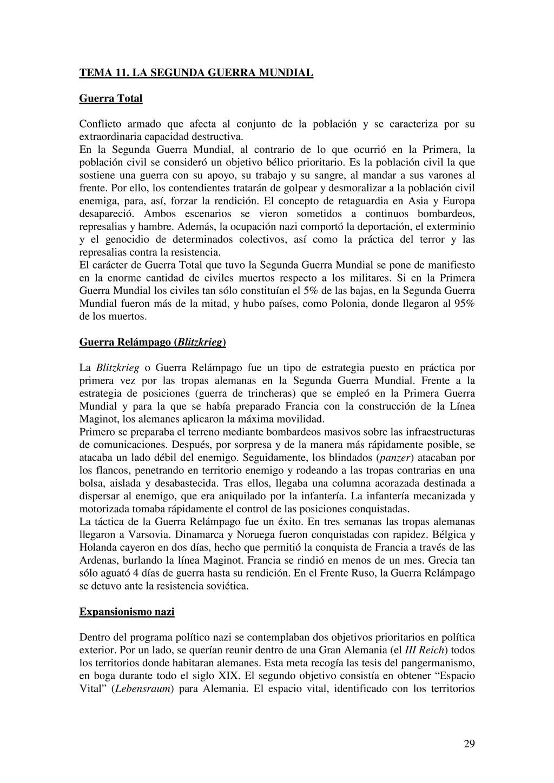 29 TEMA 11. LA SEGUNDA GUERRA MUNDIAL Guerra To...