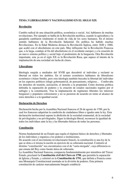 6 TEMA 3 LIBERALISMO Y NACIONALISMO EN EL SIGLO...