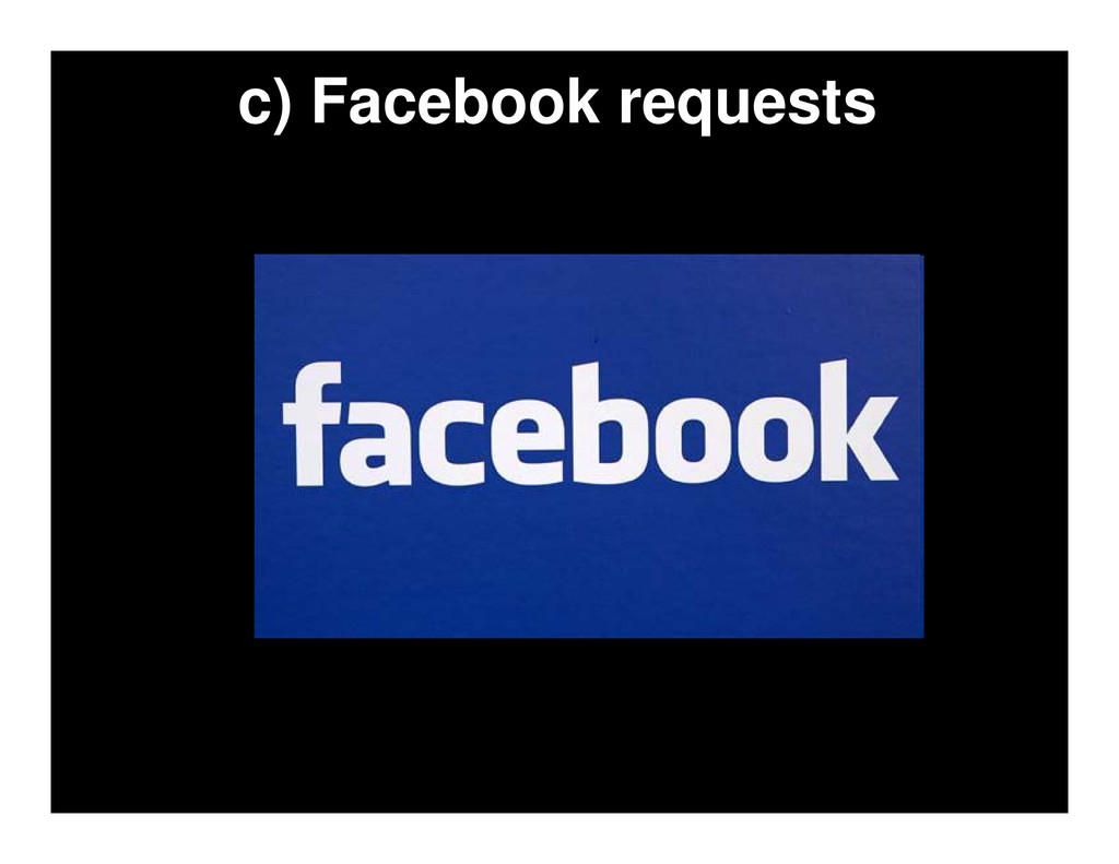 c) Facebook requests