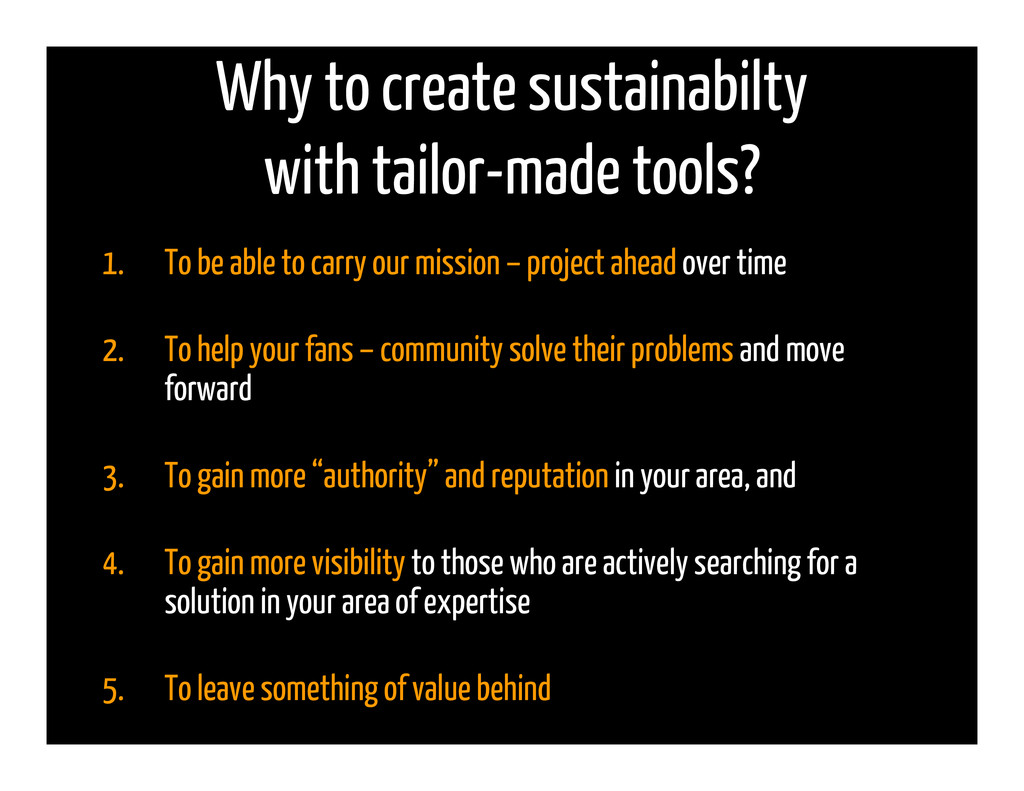 Why to create sustainabilty with tailor-made to...