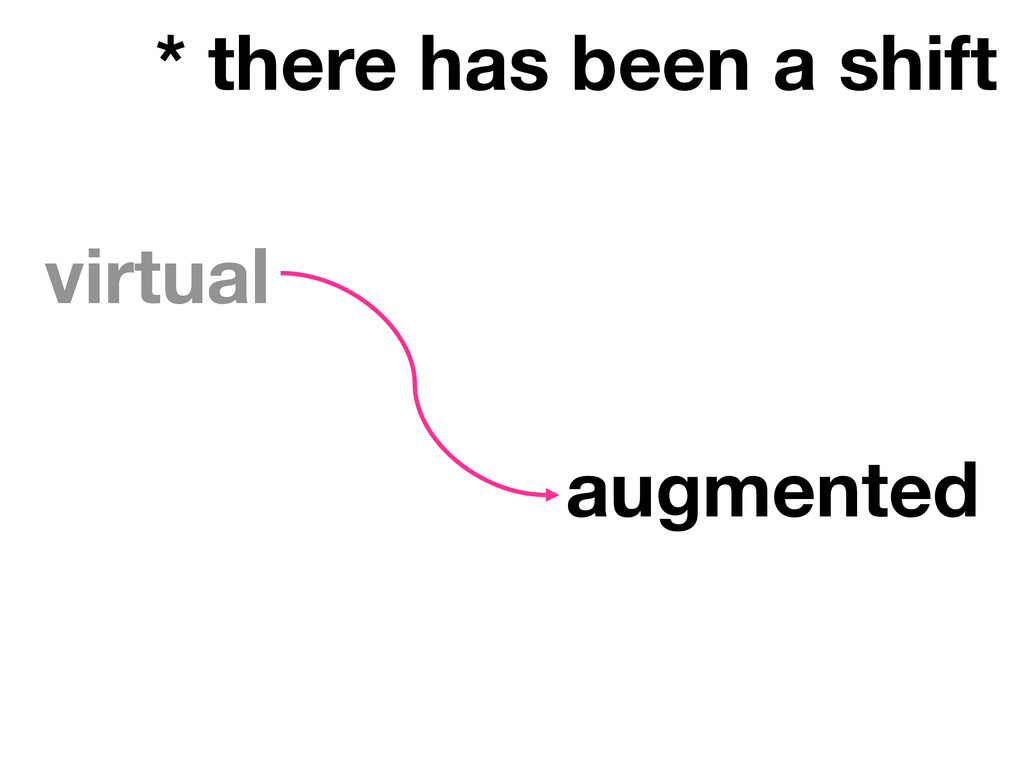 * there has been a shift virtual augmented