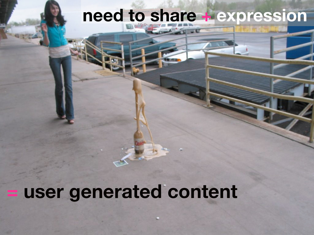 need to share + expression = user generated con...