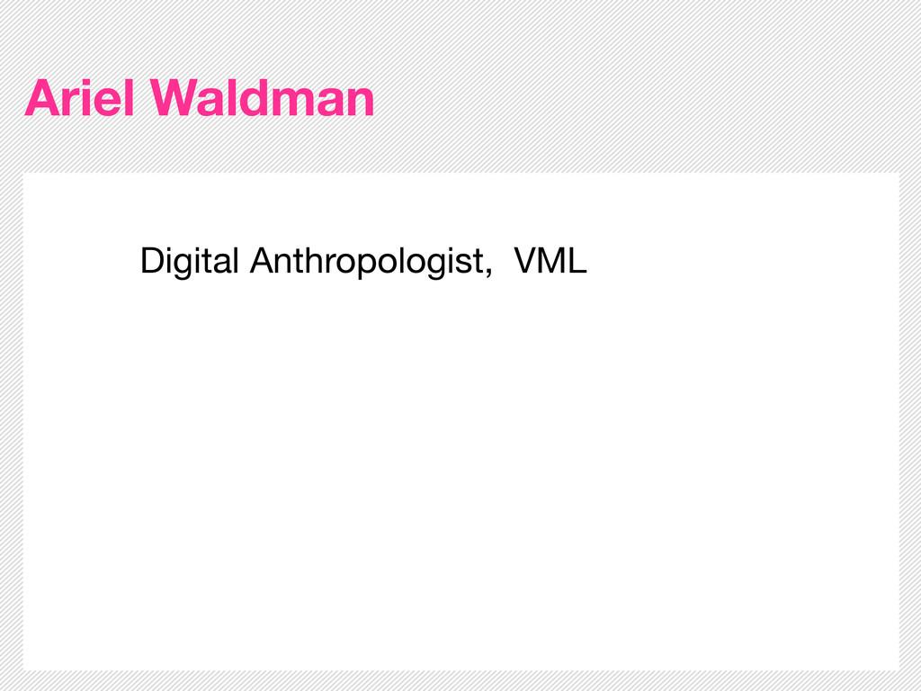 Ariel Waldman Digital Anthropologist, VML