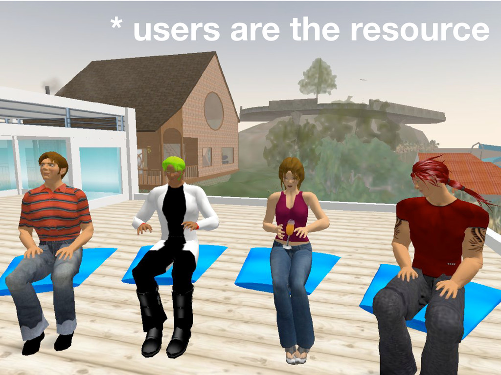 * users are the resource