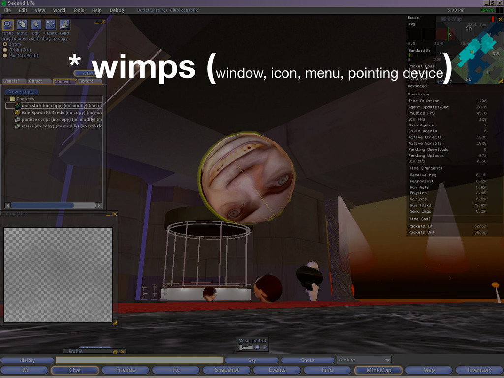 * wimps (window, icon, menu, pointing device )