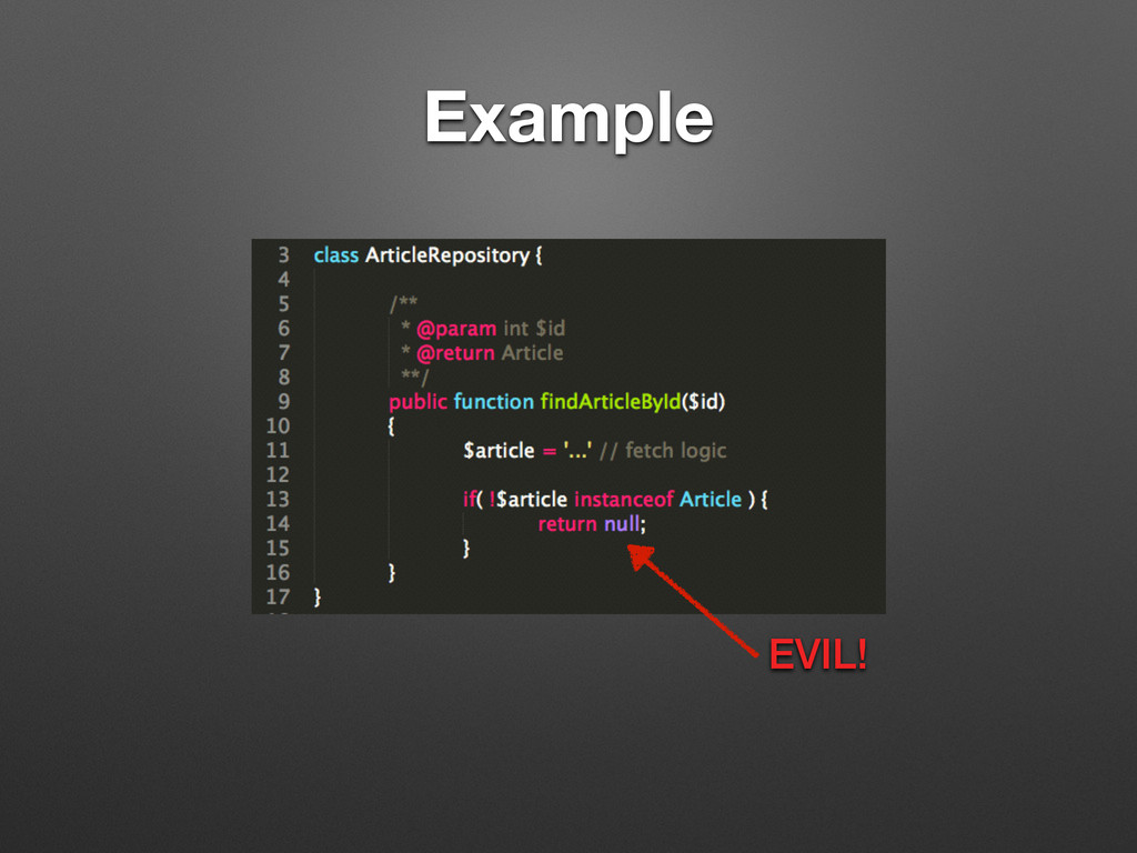 Example EVIL!
