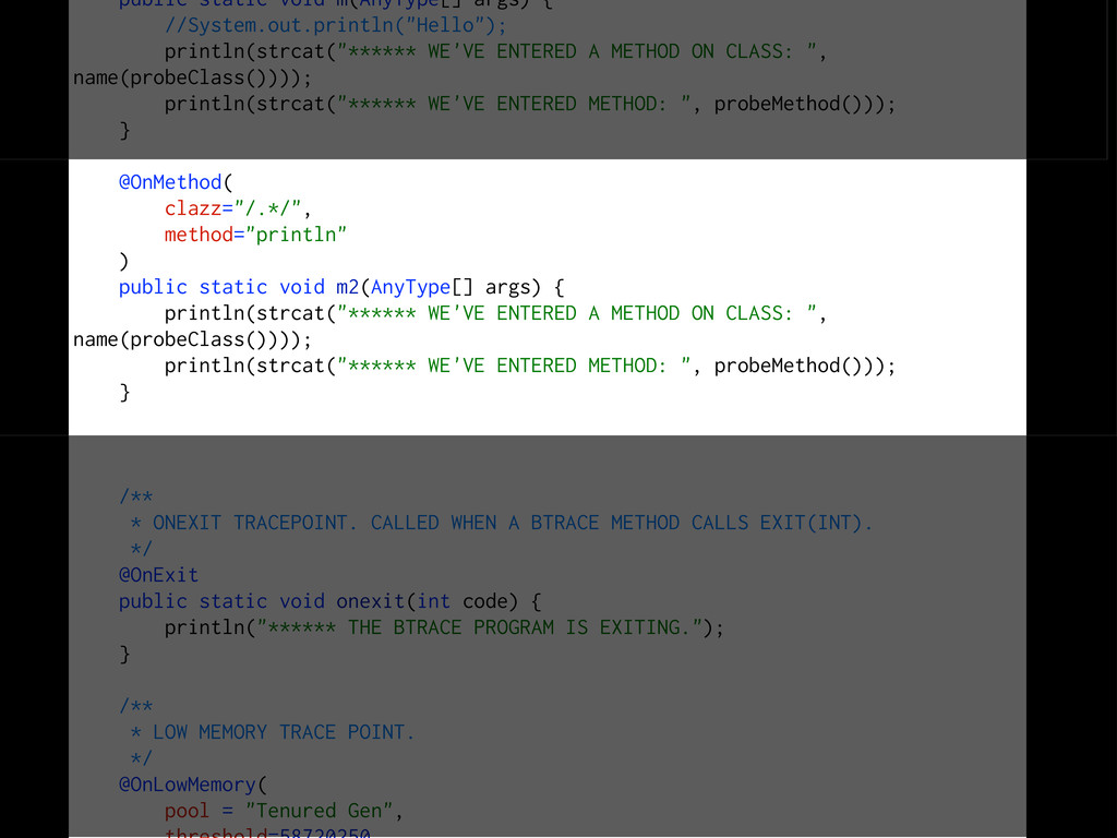public static void m(AnyType[] args) { //System...