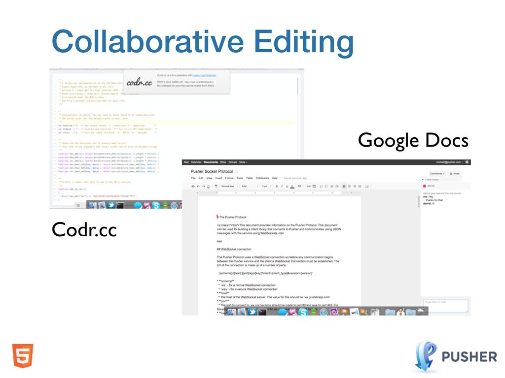 Collaborative Editing Codr.cc Google Docs