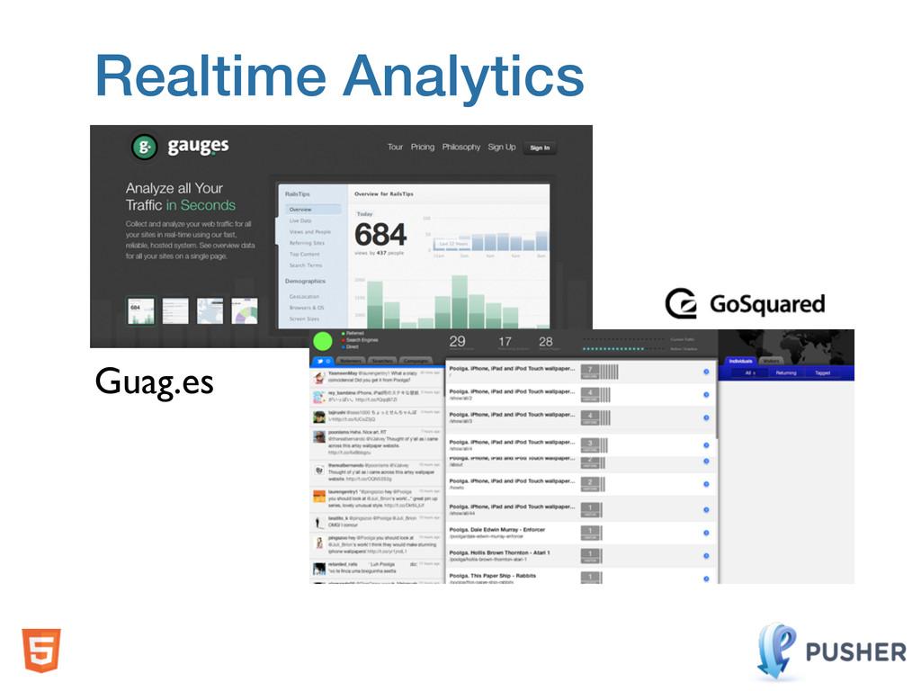 Realtime Analytics Guag.es