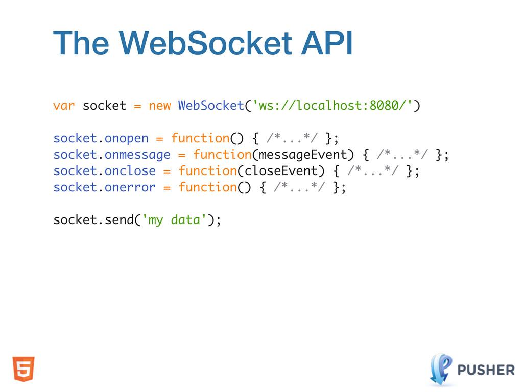 var socket = new WebSocket('ws://localhost:8080...