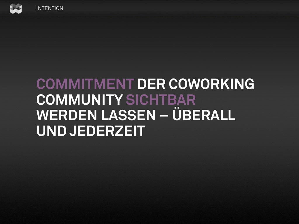 INTENTION COMMITMENT DER COWORKING COMMUNITY SI...