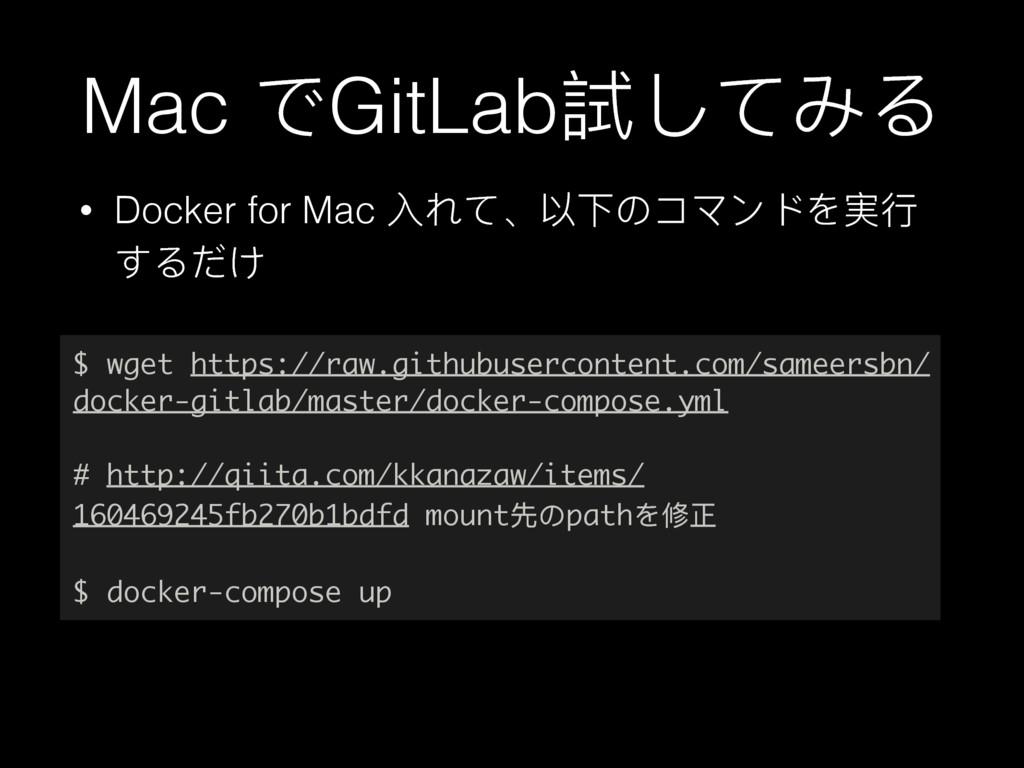 Mac ͽGitLab手ͭͼΕΡ • Docker for Mac فͼ̵զӥ΄πϫЀϖΨ䋚...