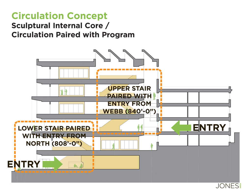 UPPER STAIR PAIRED WITH ENTRY FROM WEBB (840'-0...