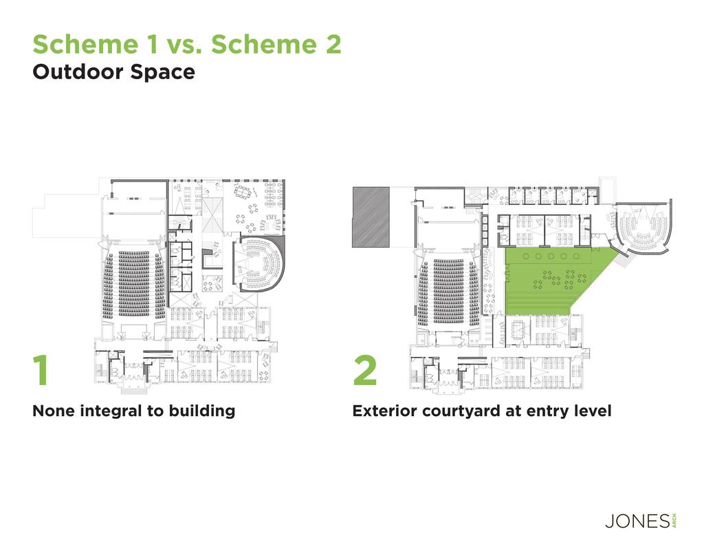 Scheme 1 vs. Scheme 2 Outdoor Space None integr...