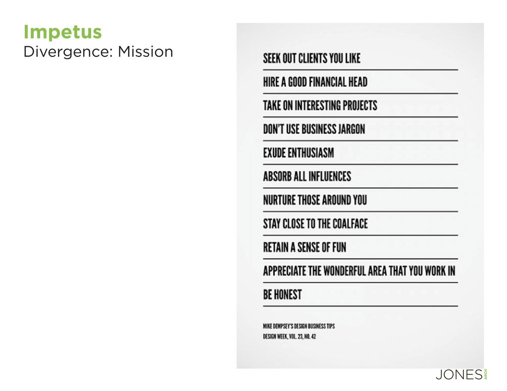 Impetus Divergence: Mission