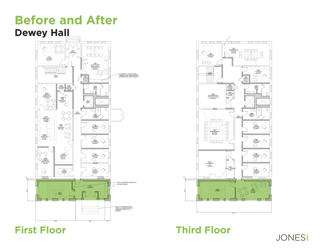 Before and After Dewey Hall Third Floor First F...