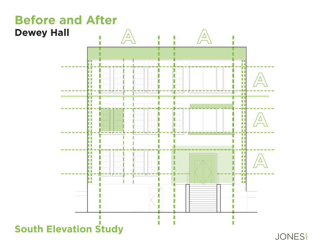 A A A A A South Elevation Study Before and Afte...