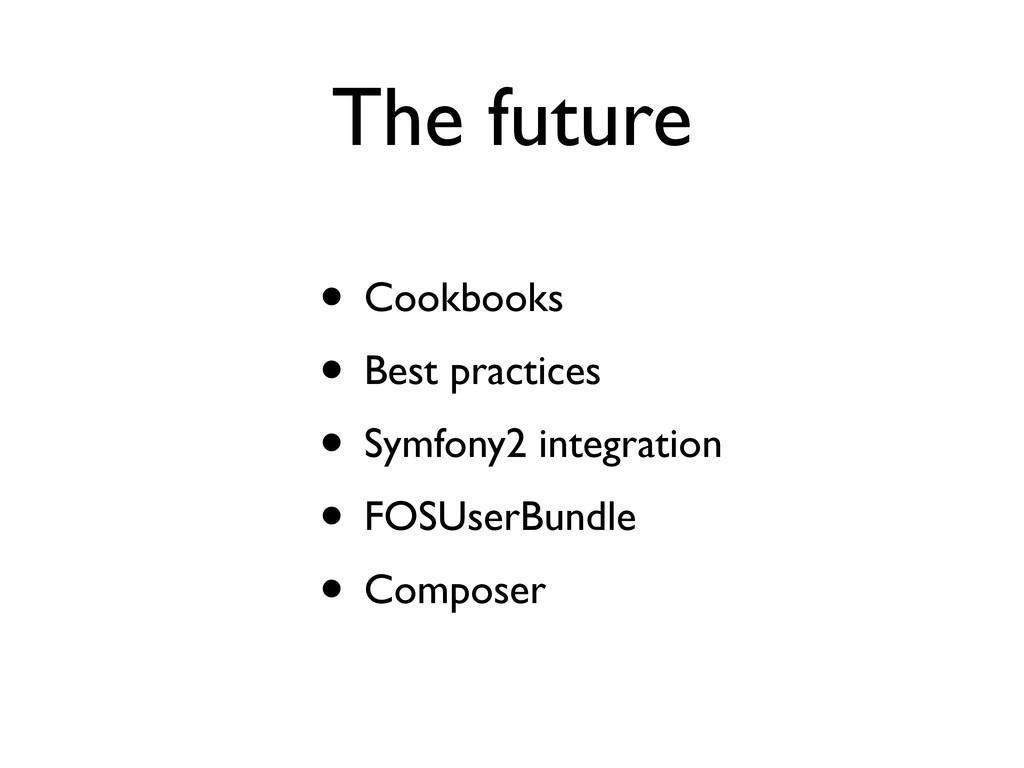 The future • Cookbooks • Best practices • Symfo...