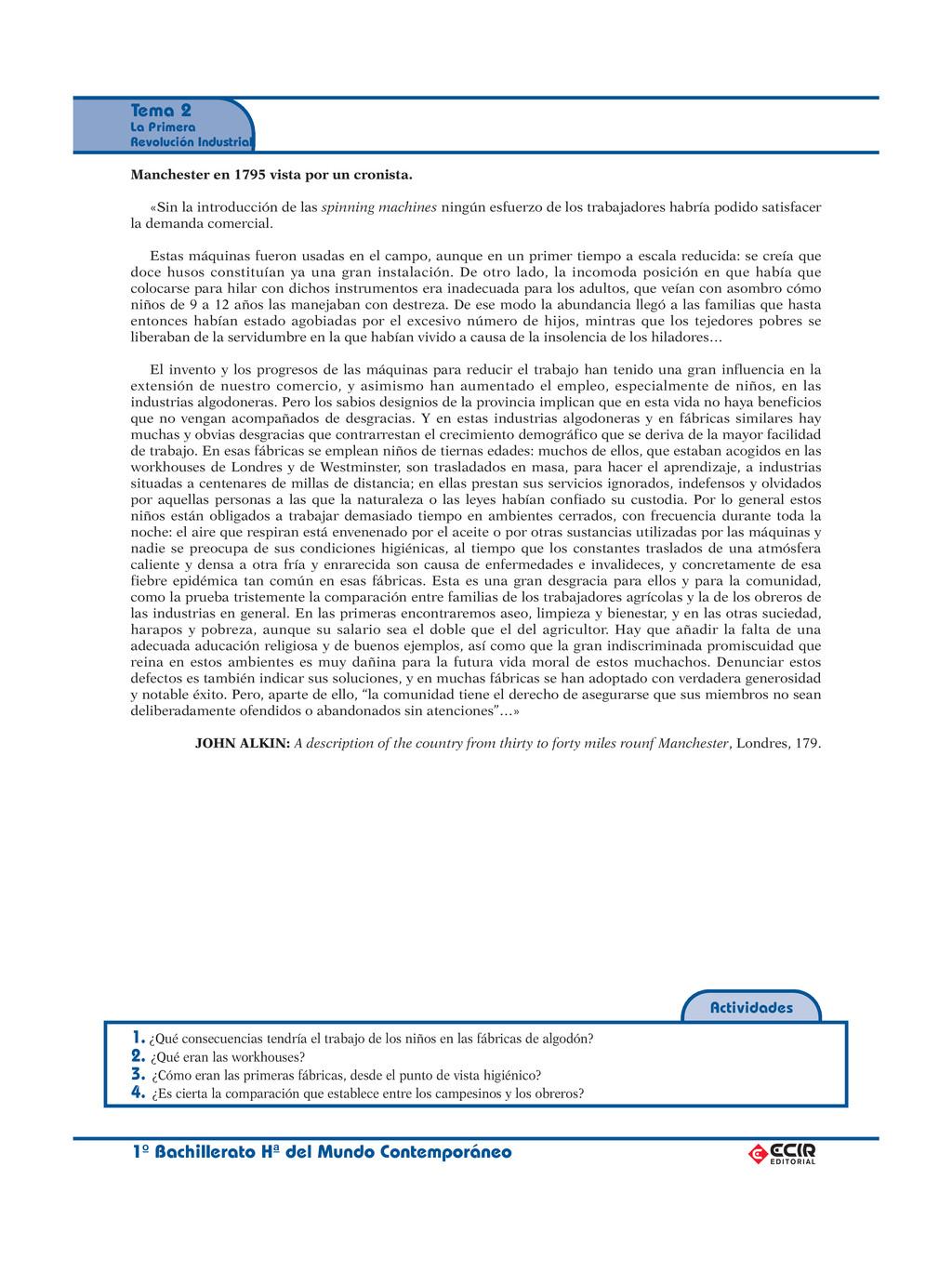 1º Bachillerato Hª del Mundo Contemporáneo Tema...