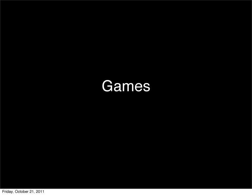 Games Friday, October 21, 2011