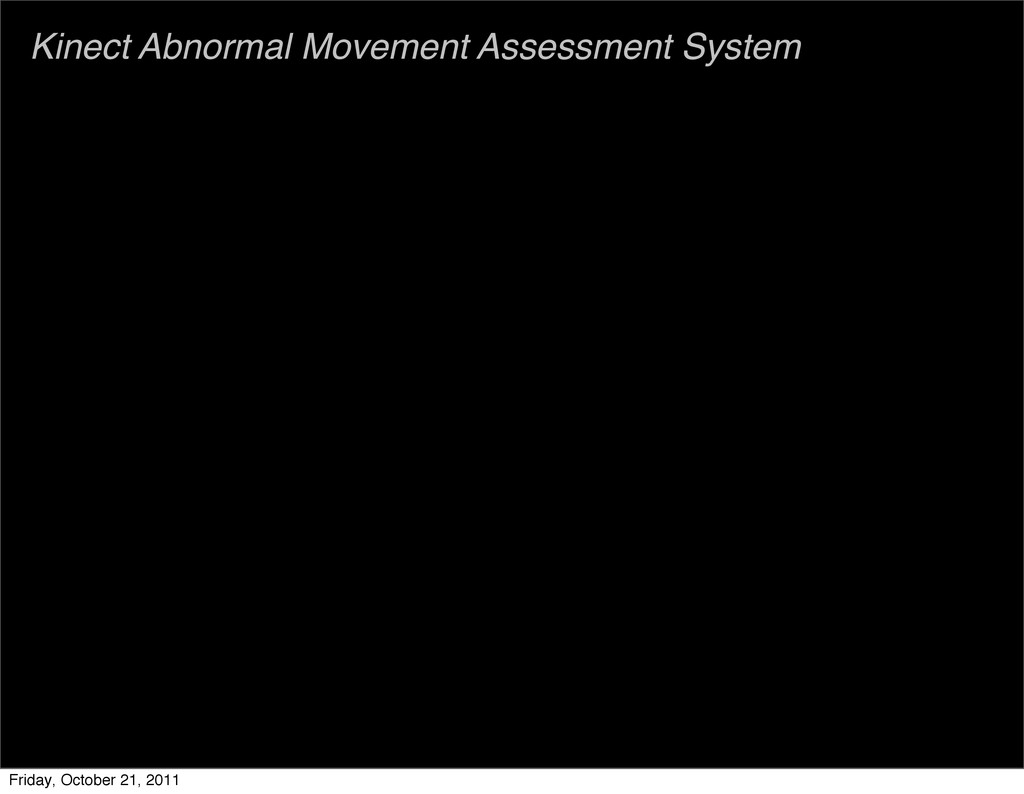 Kinect Abnormal Movement Assessment System Frid...