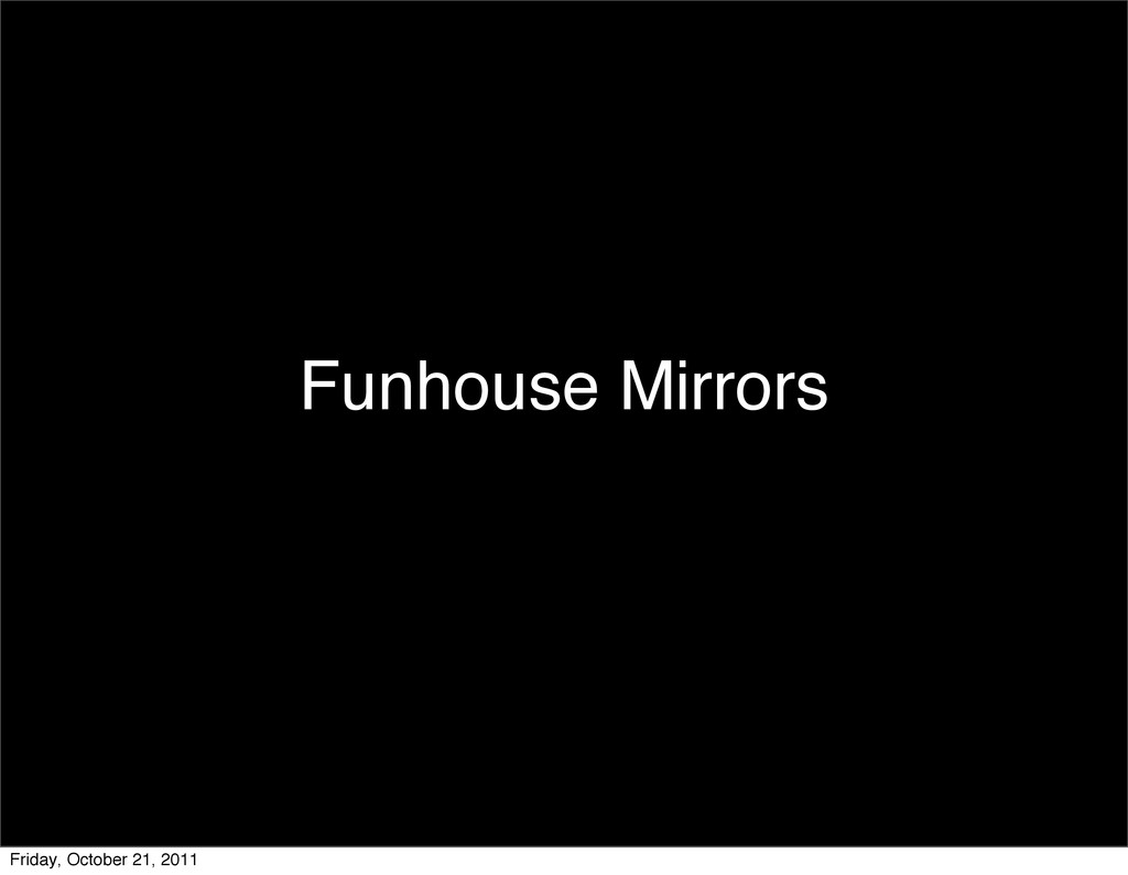 Funhouse Mirrors Friday, October 21, 2011