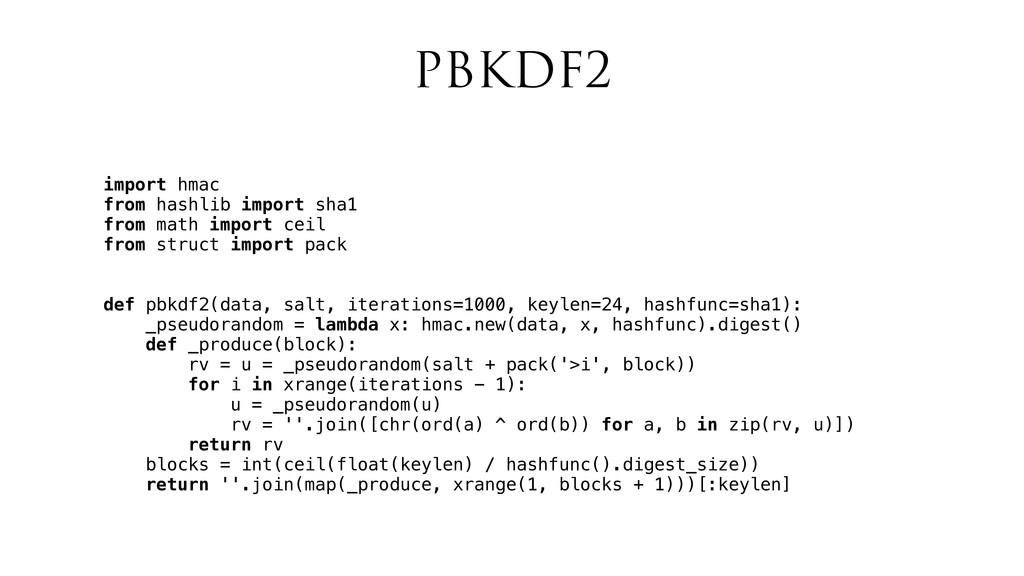 PBKDF2 import hmac from hashlib import sha1 fro...