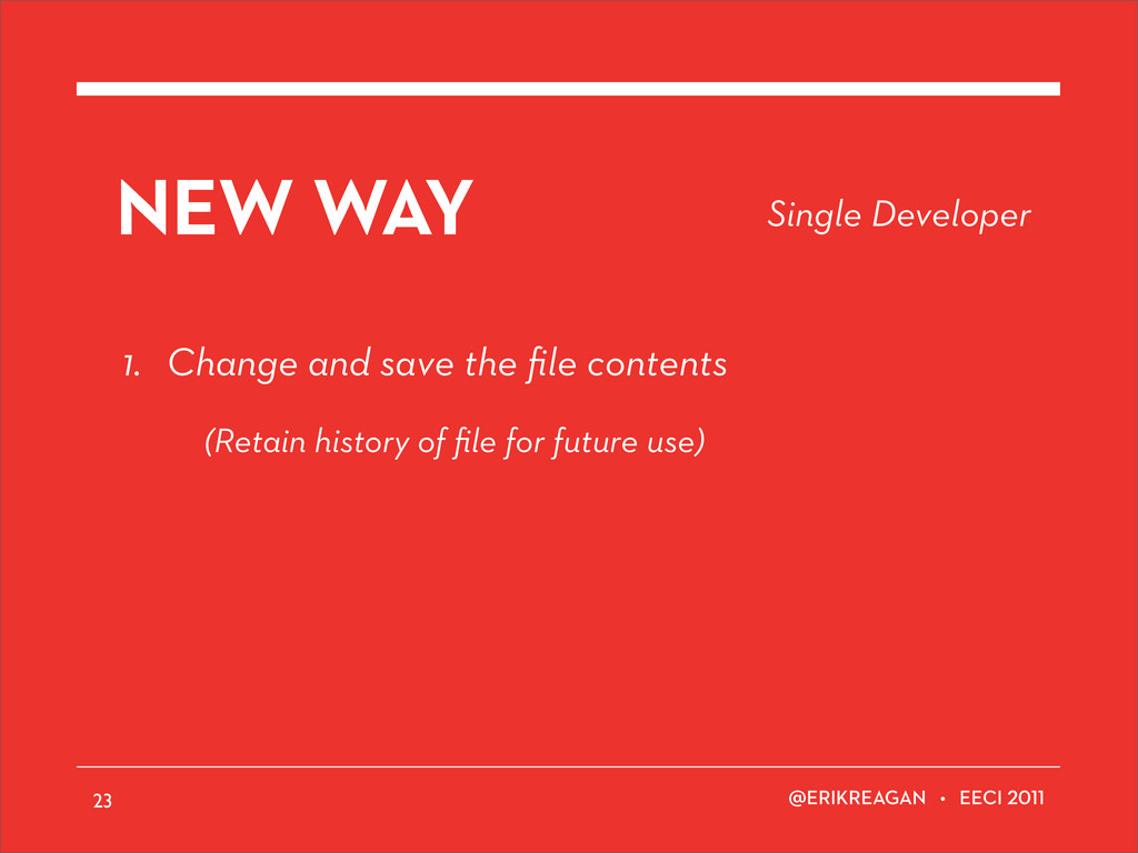 ERIKREAGAN • EECI NEW WAY 1. Change and save th...