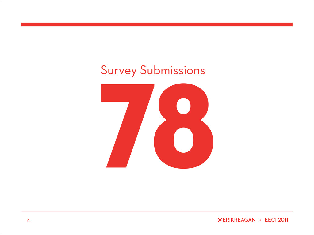 Survey Submissions ERIKREAGAN • EECI 78 4