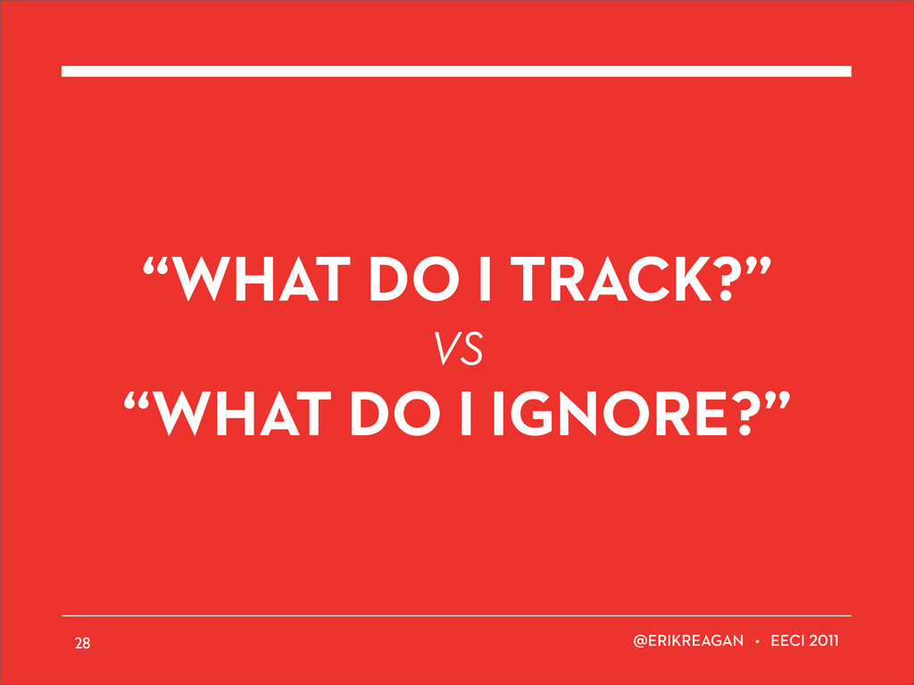 "ERIKREAGAN • EECI ""WHAT DO I TRACK?"" VS ""WHAT D..."