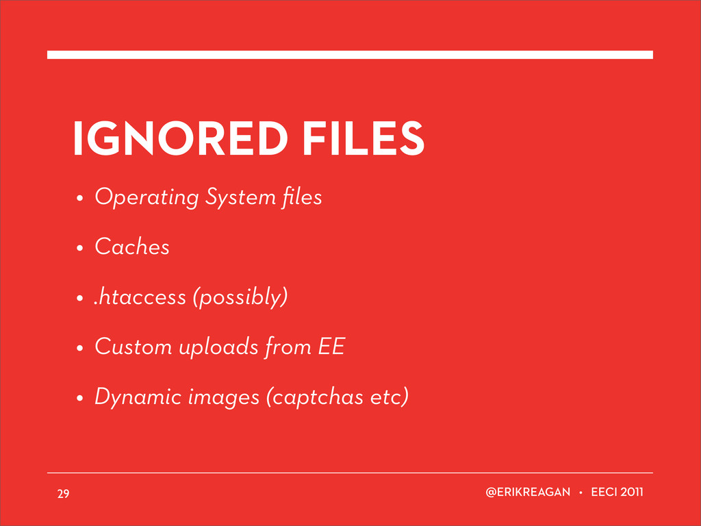 ERIKREAGAN • EECI IGNORED FILES • Operating Sys...
