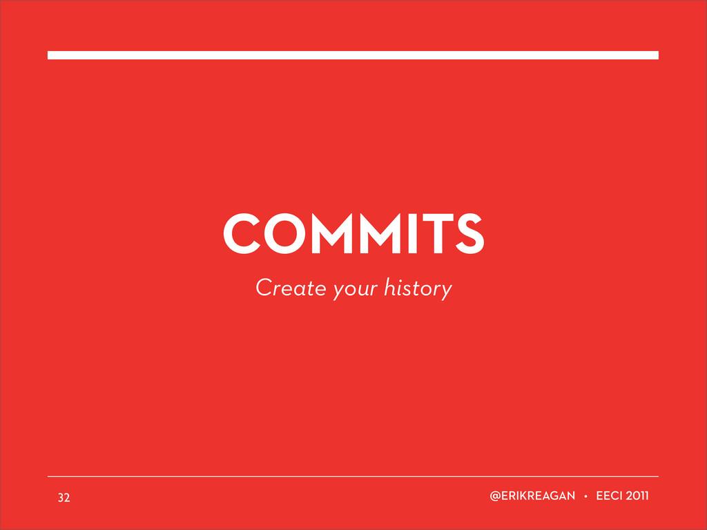 ERIKREAGAN • EECI COMMITS Create your history 32