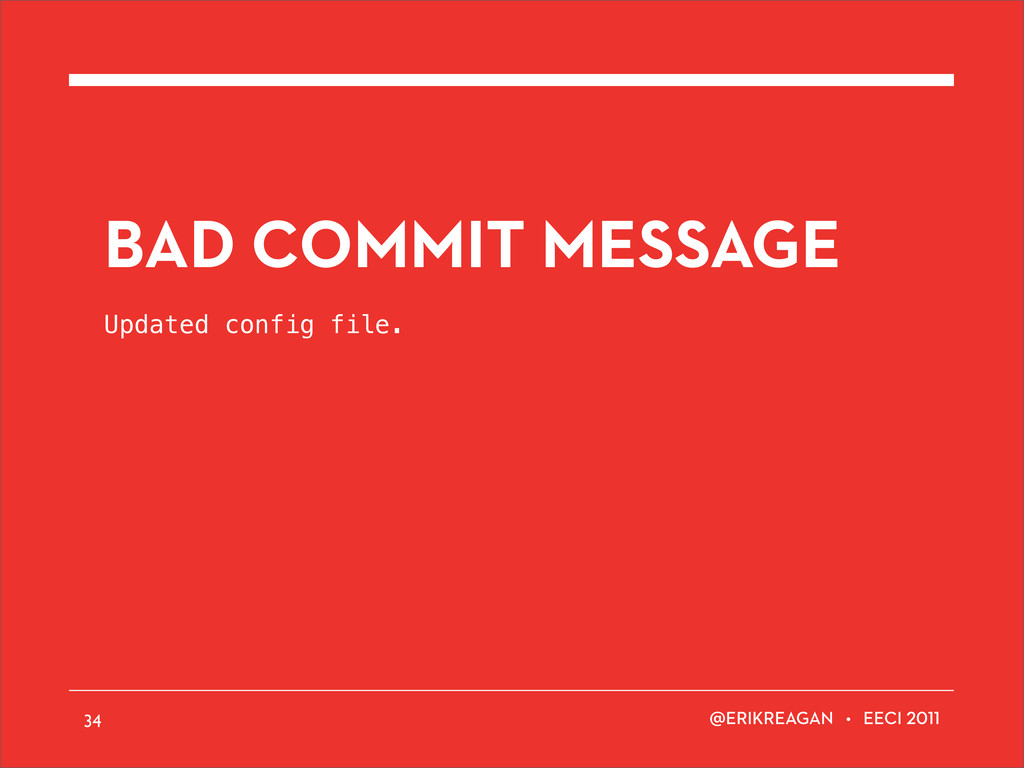 ERIKREAGAN • EECI BAD COMMIT MESSAGE Updated co...
